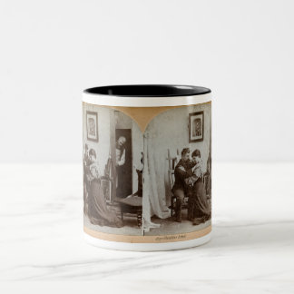 Shoulder Arms Full Stereoview Card - Vintage Two-Tone Coffee Mug