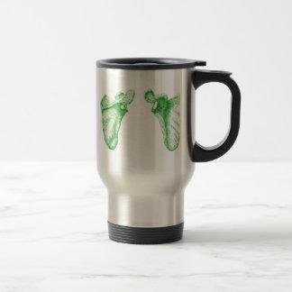 Shoulder blades travel mug