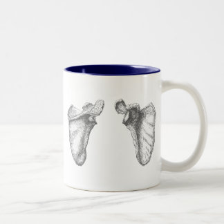 Shoulder blades Two-Tone coffee mug