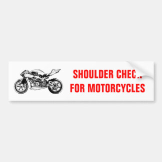 Shoulder Check for Motorcycles bumper sticker