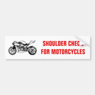 Shoulder Check for Motorcycles bumper sticker Car Bumper Sticker