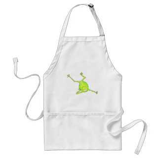 Shoulder Stand Yoga Frog Adult Apron