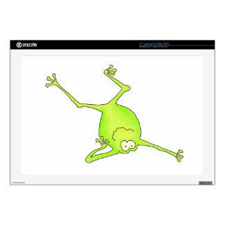 Shoulder Stand Yoga Frog Laptop Skin