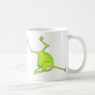 Shoulder Stand Yoga Frog Classic White Coffee Mug