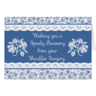 Shoulder Surgery Get Well Floral Faux Lace Card