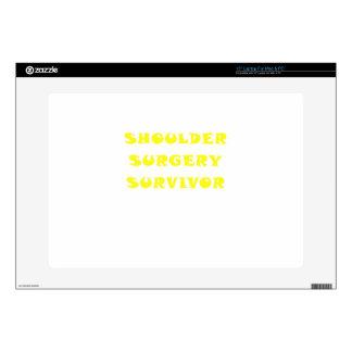 """Shoulder Surgery Survivor 15"""" Laptop Decal"""