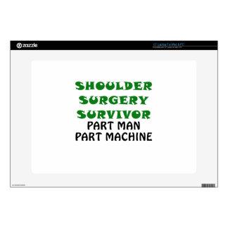 """Shoulder Surgery Survivor Part Man Part Machine Skin For 15"""" Laptop"""