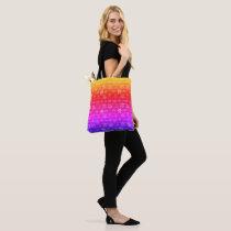 Shoulder tote bag floral colorful design