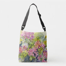 Shoulder tote with flowers