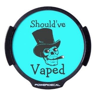 Should've Vaped LED Car Decal