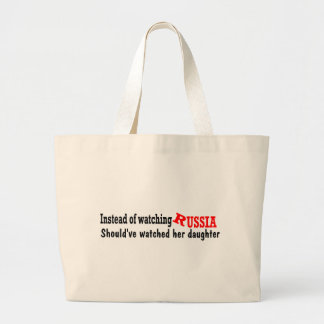 should've watched daughter large tote bag