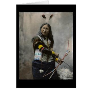Shout At Oglala Sioux 1899 Indian Card