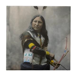 Shout At Oglala Sioux 1899 Indian Ceramic Tile