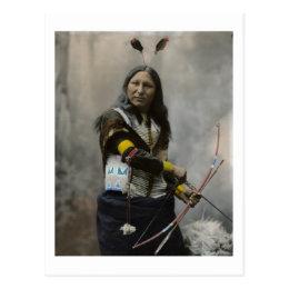 Shout At Oglala Sioux 1899 Indian Postcard