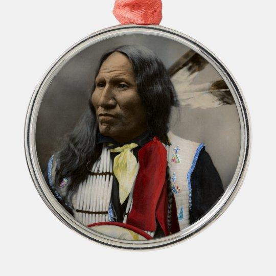 Shout At Oglala Sioux 1899 Indian Vintage Metal Ornament