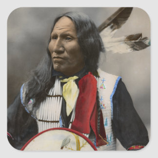 Shout At Oglala Sioux 1899 Indian Vintage Square Sticker