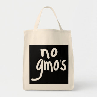 Shout No GMO's Protect our Food on black Tote Bag