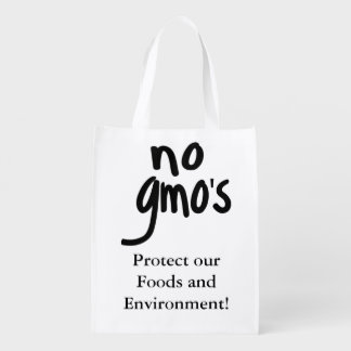 Shout No GMO's Protect our Food Reusable Grocery Bag