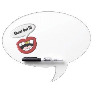 Shout Out Fun White Dry Erase Board w Hooks