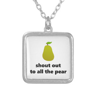 Shout out to all the pear silver plated necklace