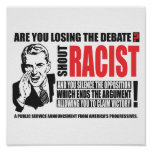 Shout Racist Poster