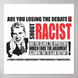 Shout Racist Print
