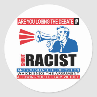 Shout Racist Stickers