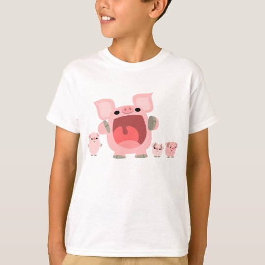 Shouting Cartoon Pigs Children T-shirt :)