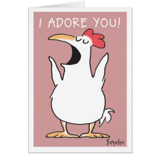 SHOUTING CHICKEN GREETING CARD
