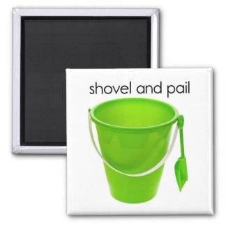 Shovel and Pail Refrigerator Magnet