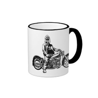 Shovel Face II Ringer Coffee Mug