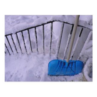 shovel on the rail (hang it up) postcard