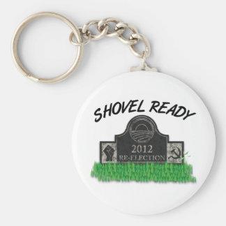 Shovel Ready Job Keychain