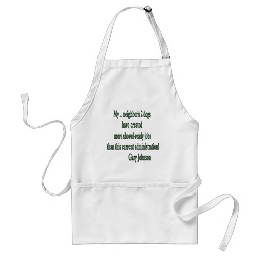Shovel-ready Jobs Quote Adult Apron