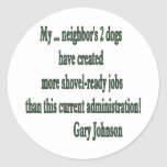 Shovel-ready Jobs Quote Stickers