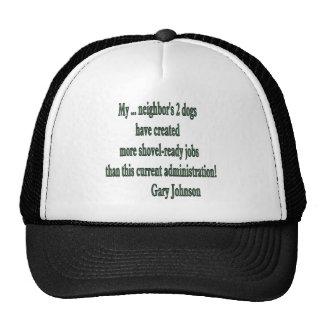 Shovel-ready Jobs Quote Trucker Hat