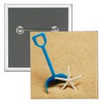 Shovel & Starfish Beach Fun Pinback Buttons