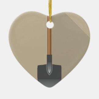 Shovel Vector Illustration Ceramic Ornament