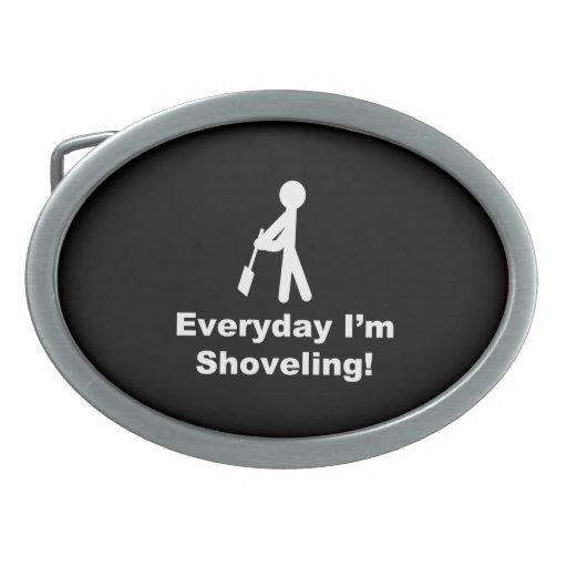 Shoveling Everyday Belt Buckles