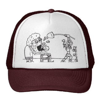 Shoveling In Trucker Hat