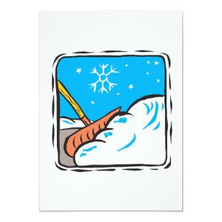Shoveling Snow Card