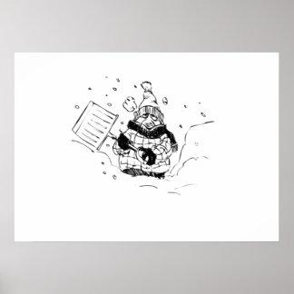 Shoveling Snow Print