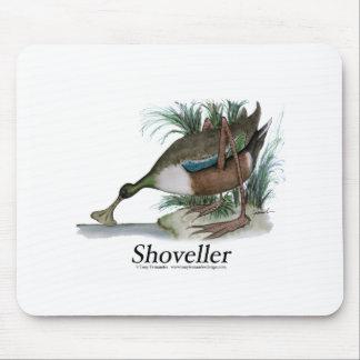 Shoveller duck, tony fernandes mouse pad