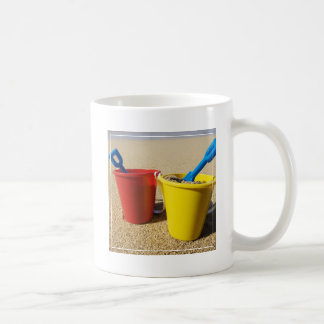 Shovels And Pails On Sandy Beach Coffee Mug