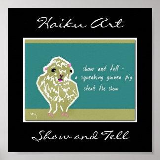 Show and Tell Haiku Art Print