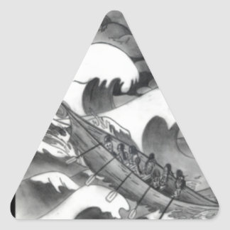 SHOW AND TELL TRIANGLE STICKER