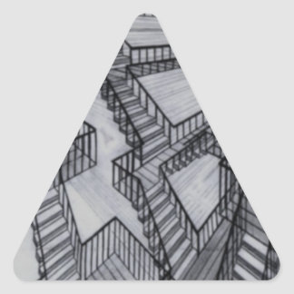 Show and Tell Triangle Stickers