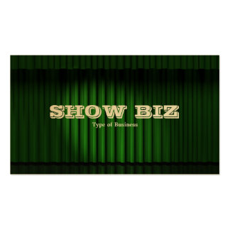 Show Biz Green - (Gold Card) Double-Sided Standard Business Cards (Pack Of 100)