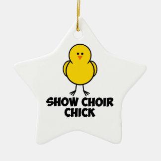 Show Choir Chick Ceramic Ornament