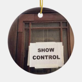 Show Control Ceramic Ornament